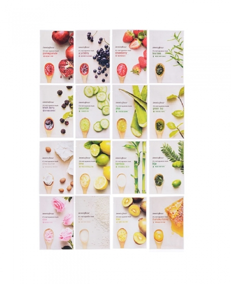 INNISFREE IT'S REAL SQUEEZE MASK PACK - 5PCS